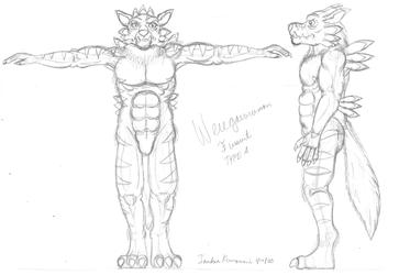 Weregarurumon Suit Type A - Initial
