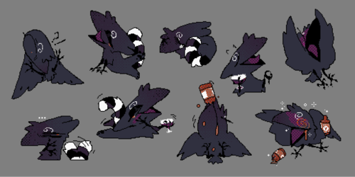 commission: drinky crow [telegram sticker set]