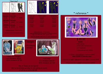 2014 Commission Sheet