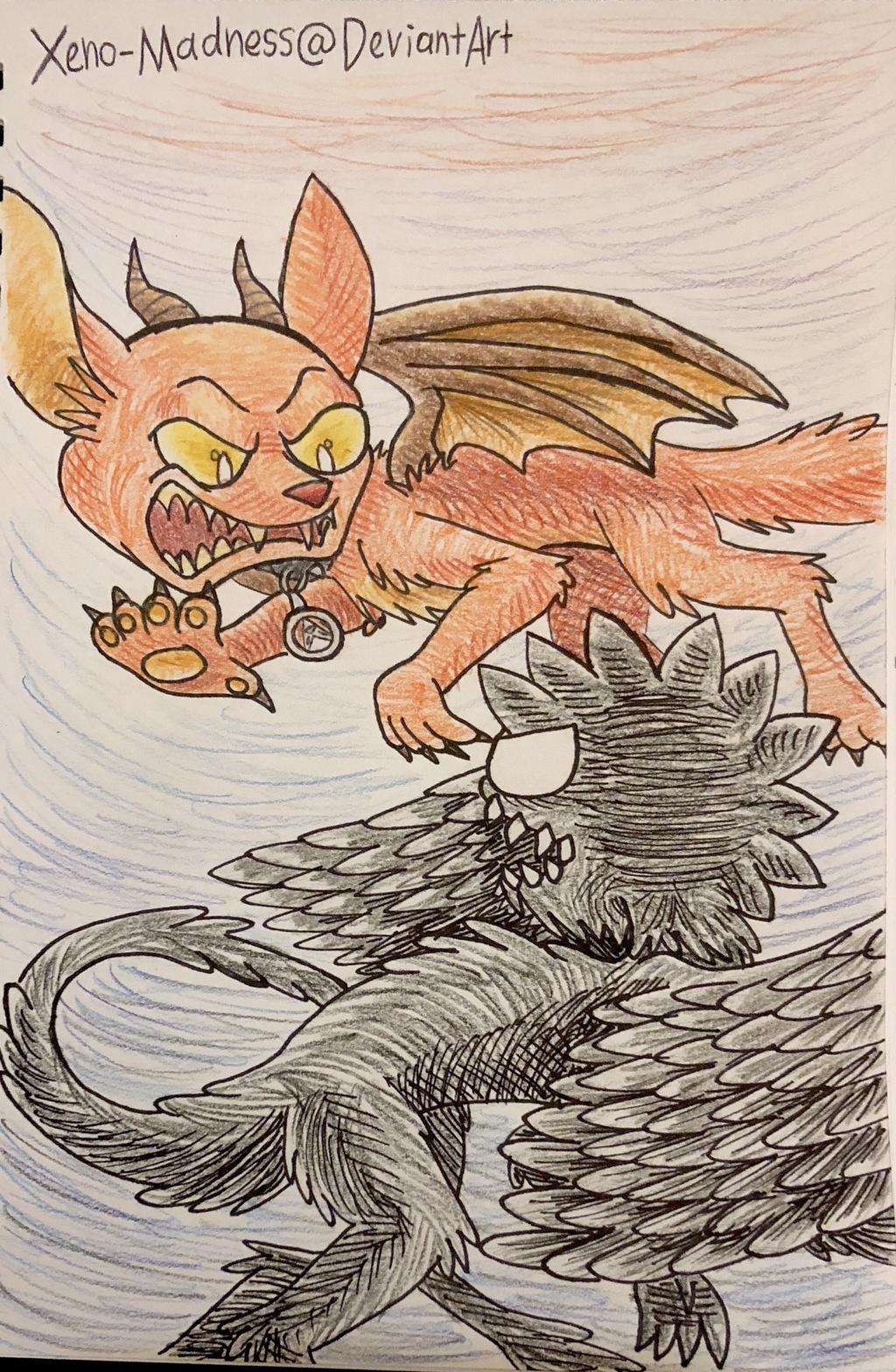 Inktober 25: Demon VS Angel