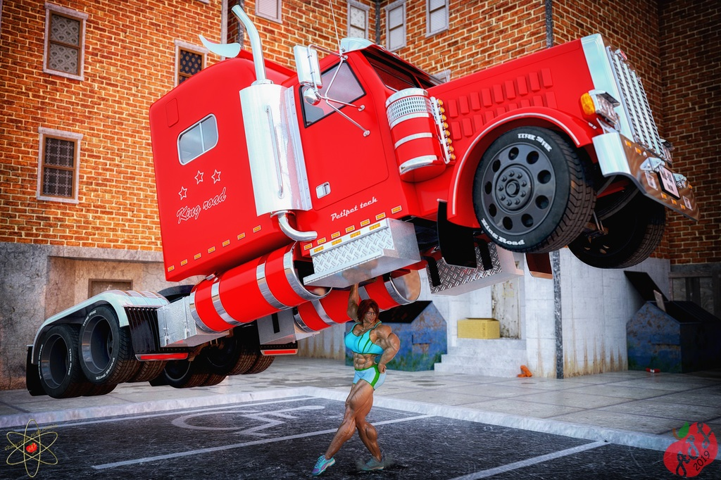 Heather with truck