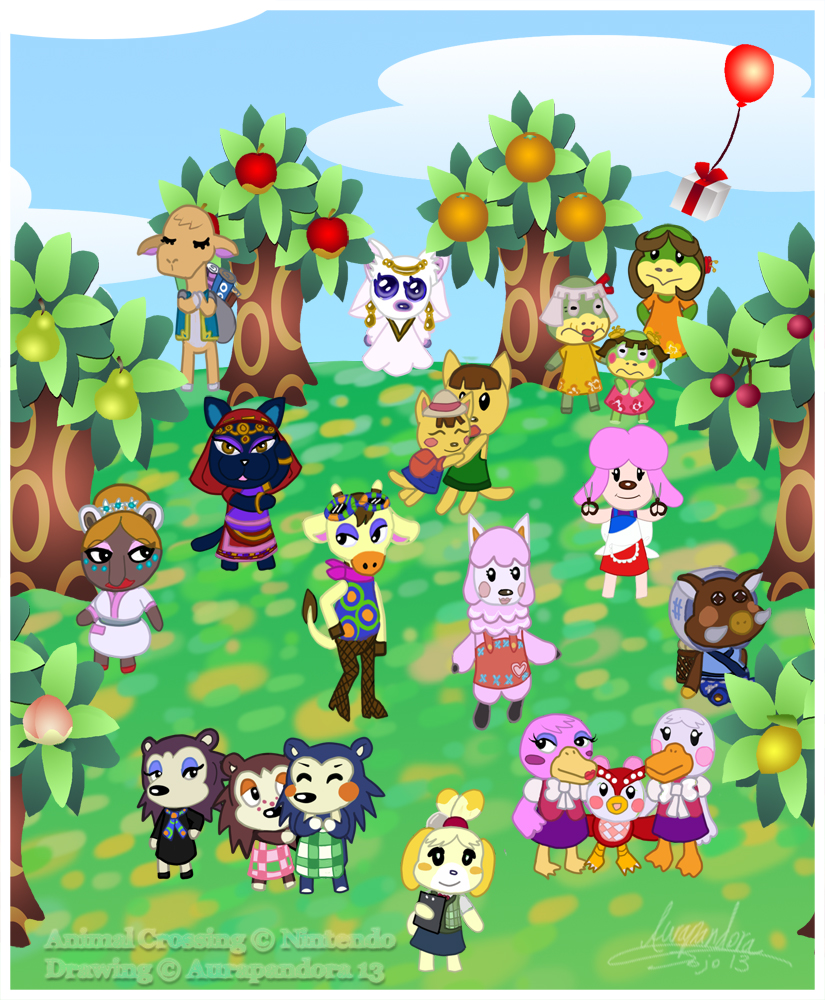 Animal Crossing Girls Party