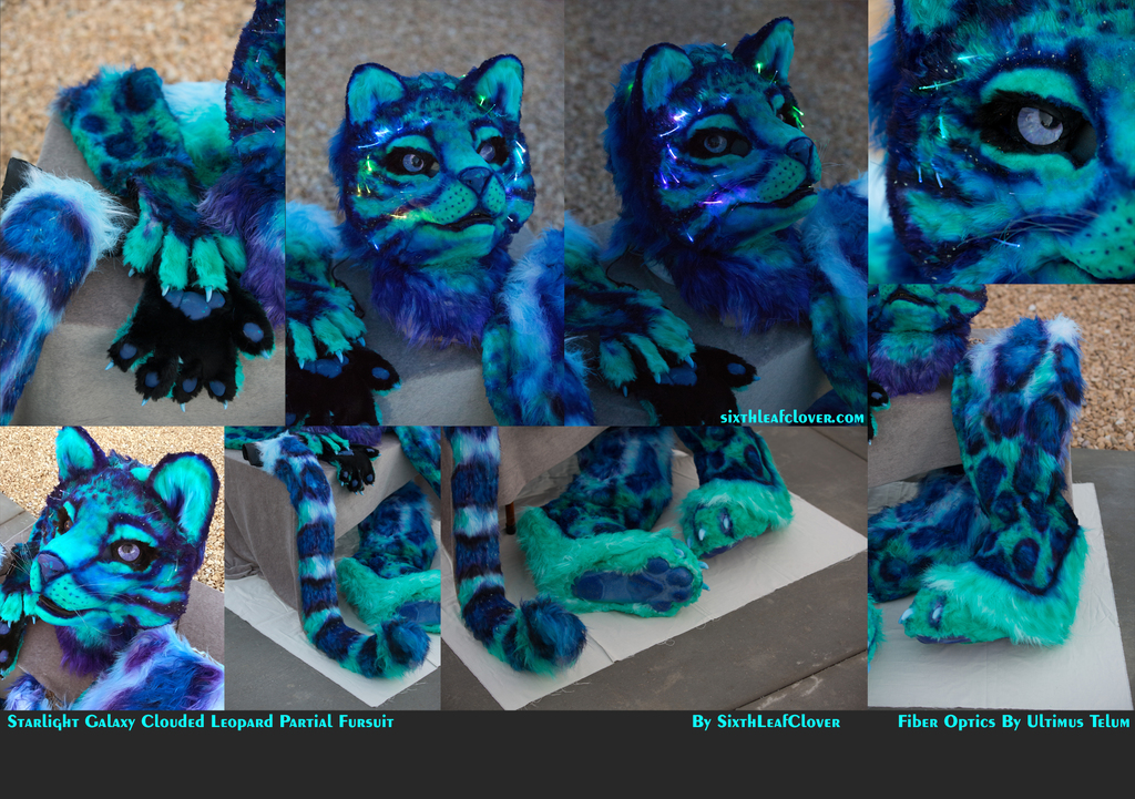 Starlight Galaxy Clouded Leopard with Fiber Optics