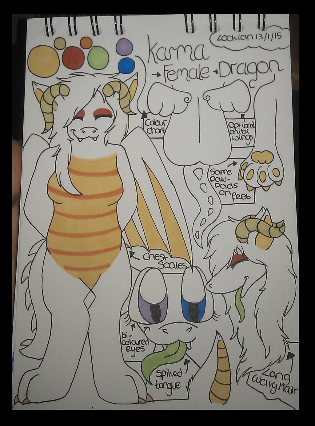 Anthro A5 ref sheet for Karma