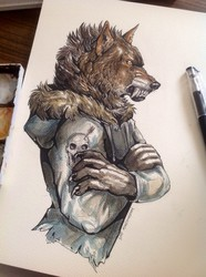 Wolfbeast (coloring comm)