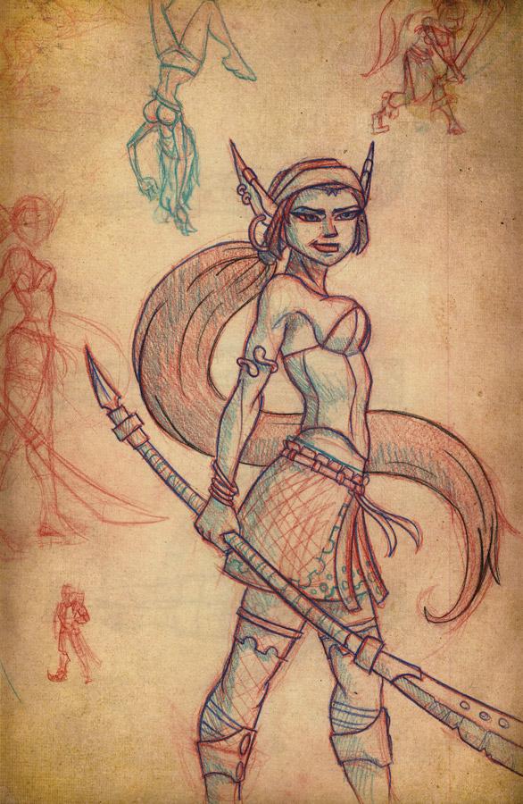 Gypsy Elf Sketch