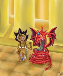 A boy and his imaginary Sky Dragon God Friend