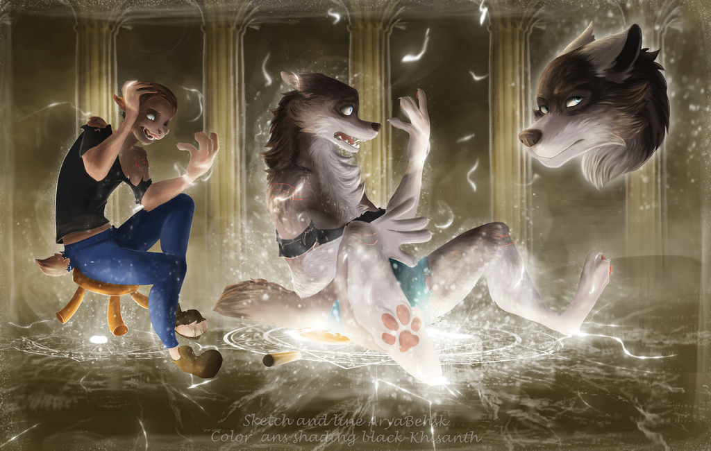 Werewolf TF by Dragon-Noir / AryaBehsk