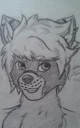[Free Art] Head shot, Werewolf Dugan
