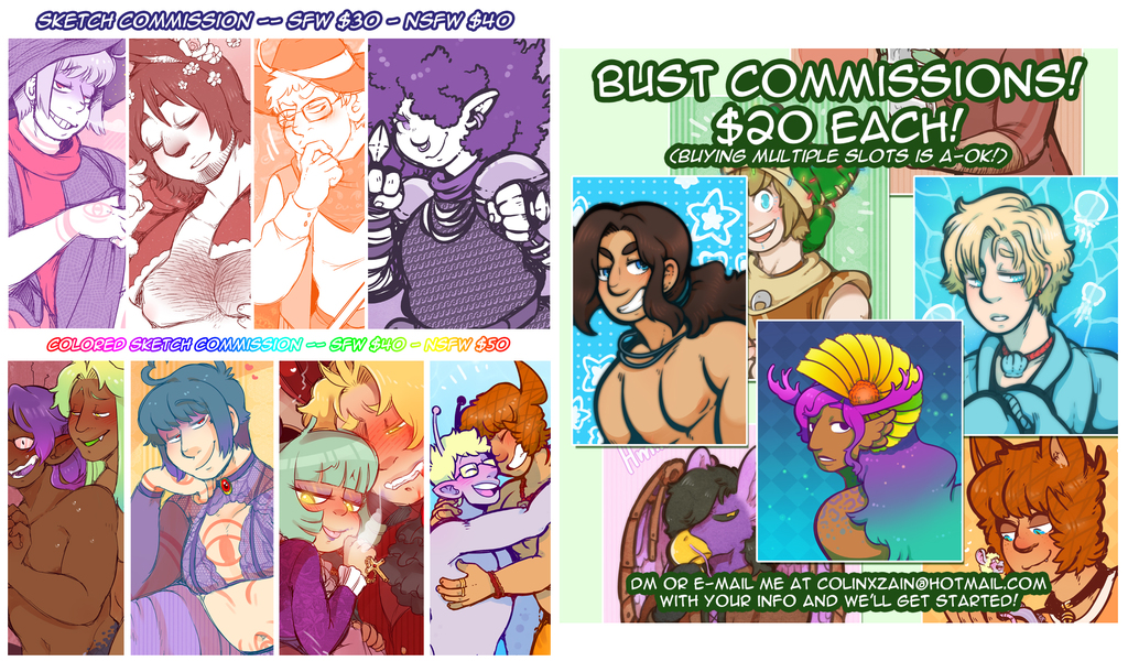 commissions are open lets go