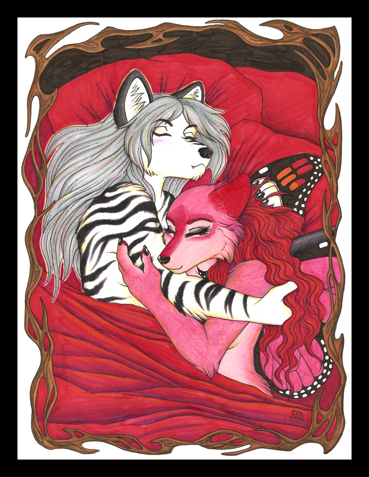Zal and Maraschino Afterglow By Luthien Nightwolf