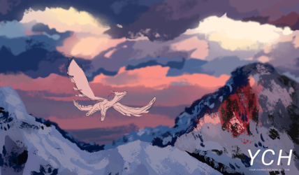 Soaring the sky (YCH)