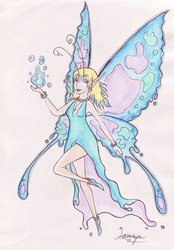 Water Fairy - Traditional Commission