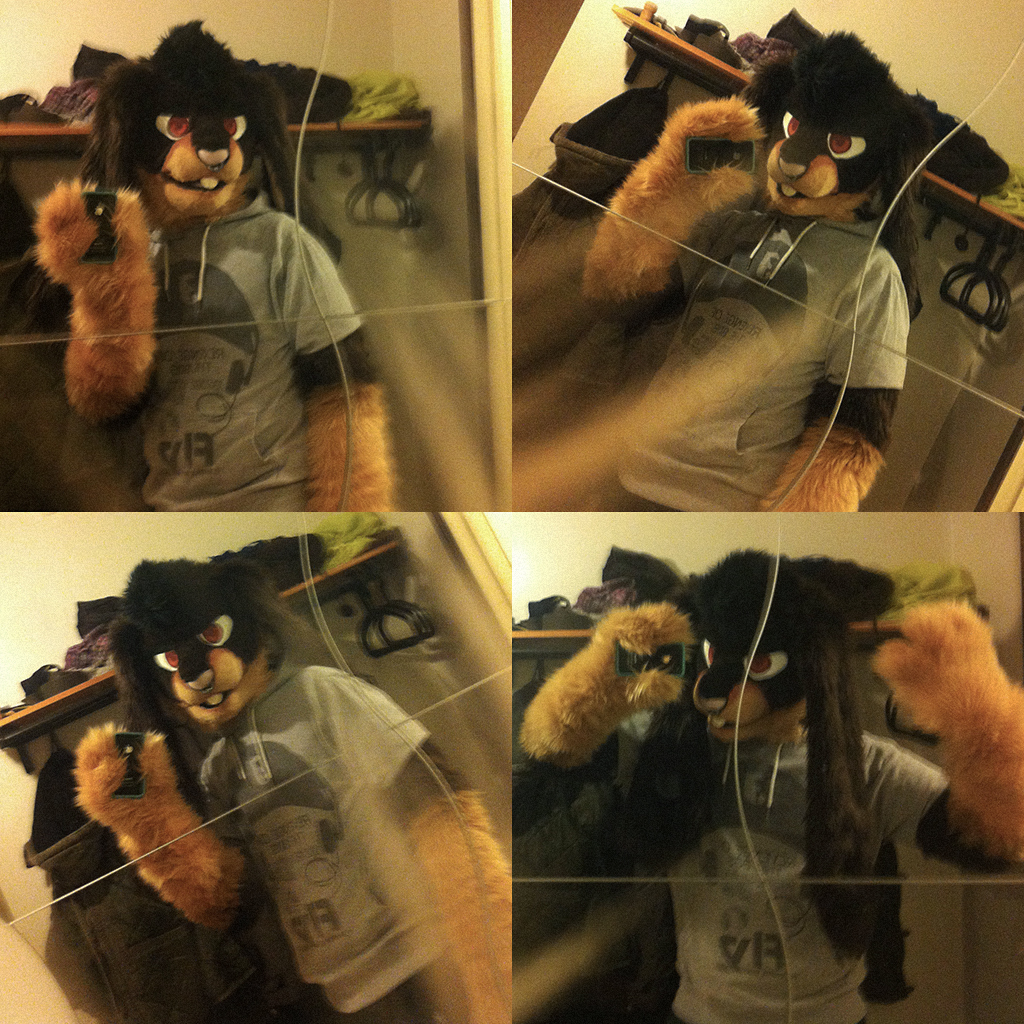 Selfies are hard! • Partial from JuliusBlackPaw