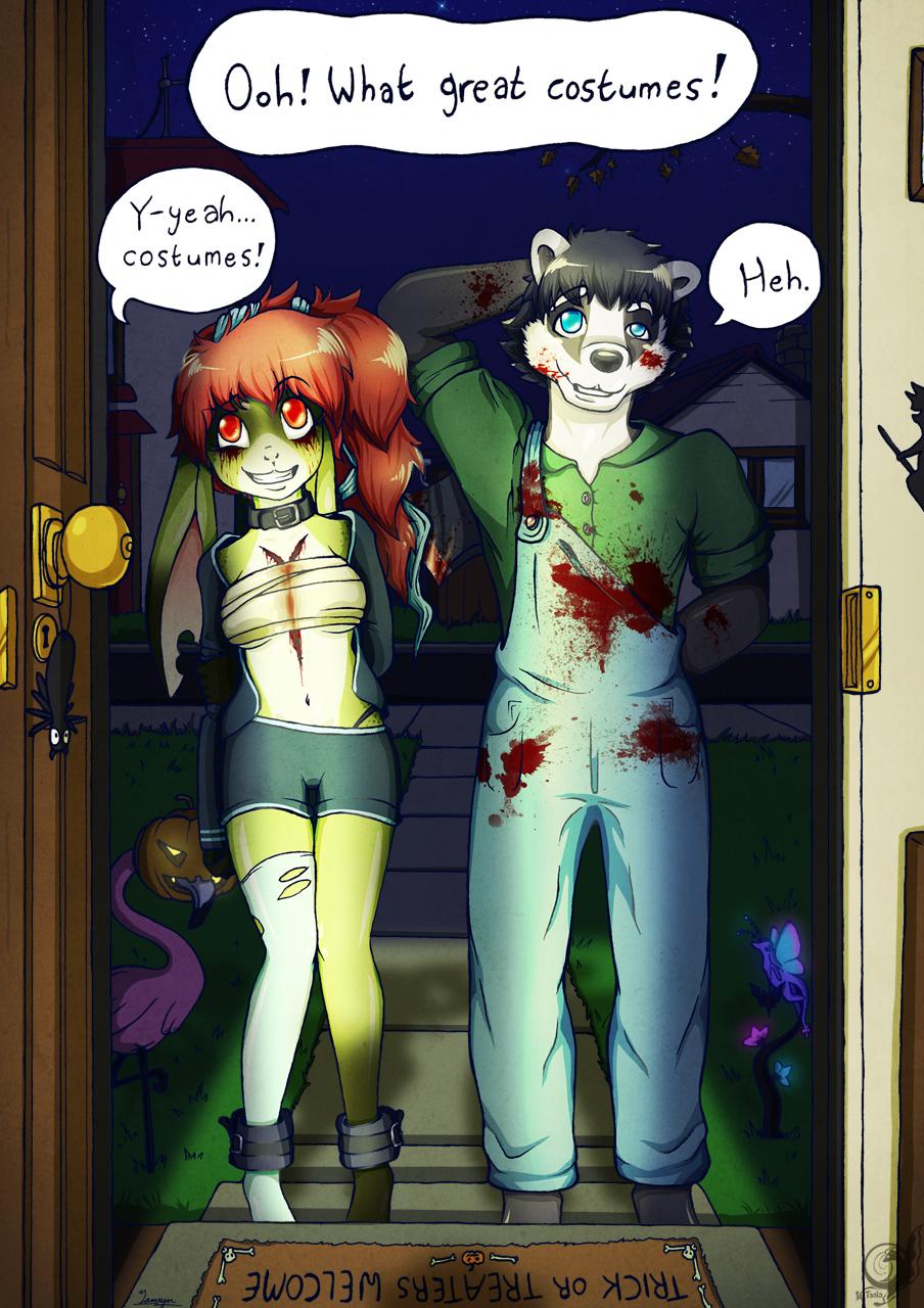 Grymm and Damien - Halloween