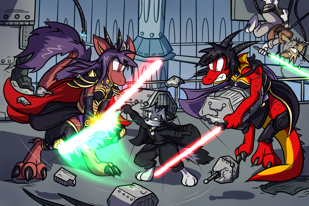 Space Dragons With Laser Swords
