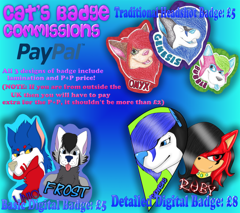 Cat's Badge Commissions!