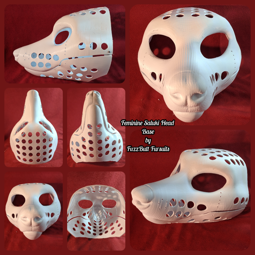 Feminine Saluki Head Base