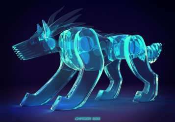 Liquid-crystal-nano-synthetic-robot-dog-thing