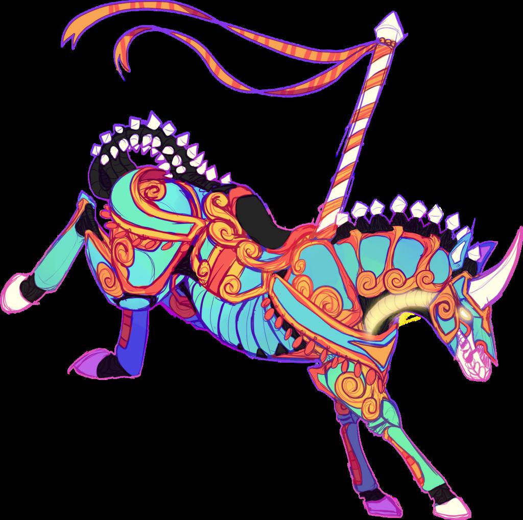 Mechanical horse sounds