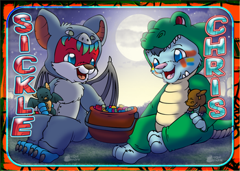 Sickle and Chris Halloween tavi tag