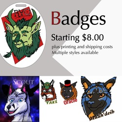 Badge Commissions Open!
