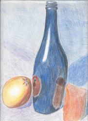 Blue and Orange Still Life