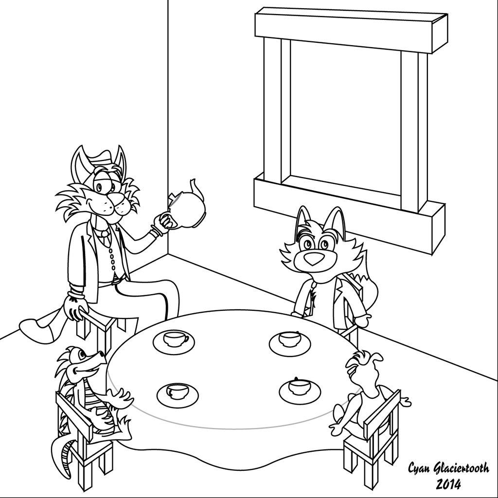 Ralph's Tea Party (Outlined)