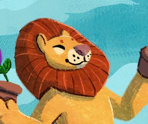:P: Happy Flower Lion