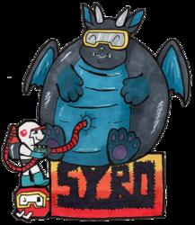 Syro Dig Dug badge for FWA 2017