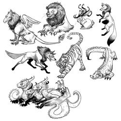 Scribbley Animals