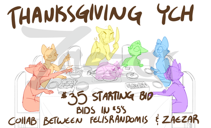 Thanksgiving feast YCH collab~