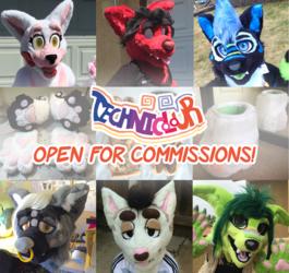 (OPEN) Technicolour Fursuit Commissions