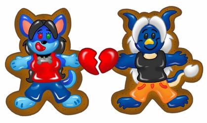Spunky and Ganador Valentine Cookies