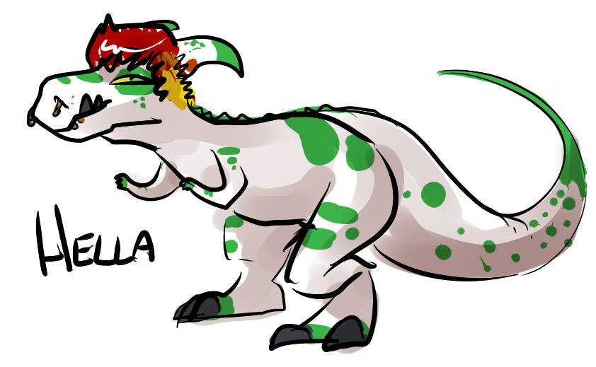 Hellasaurus by Sketh