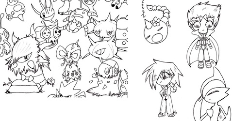 lineart stuff:  so much Pokemon, so little time