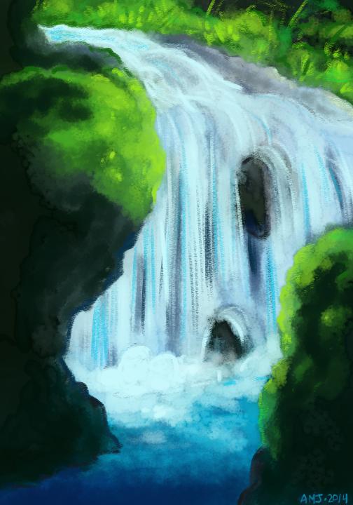 Waterfall Speedpaint