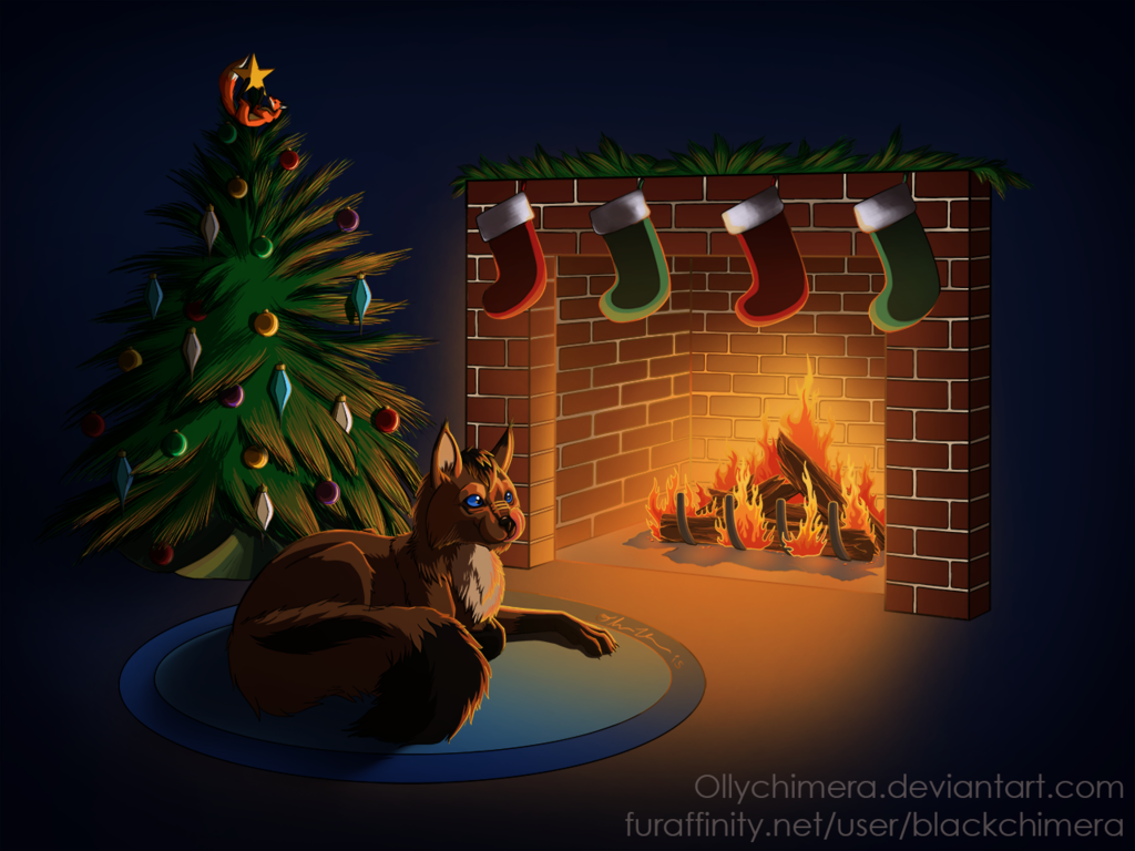 Commission - Cozy by the Fire