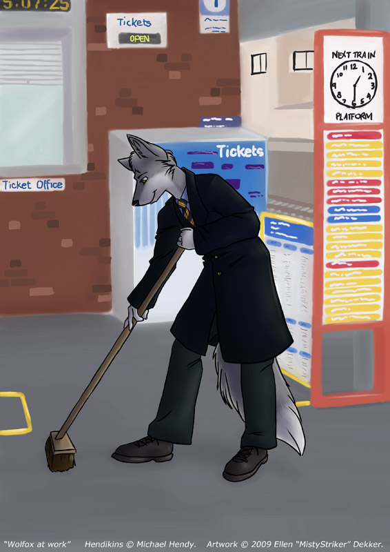 Wolfox at Work (by MistyStriker)