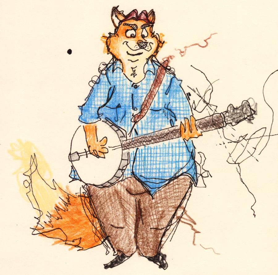 Gideon Grey, a banjo
