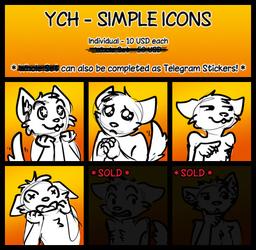 YCH - Icon or Telegram Sticker Set