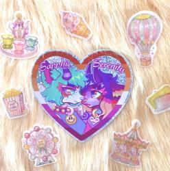 Sapphic Serenity Glitter Sticker