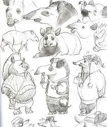 Tapir doodles