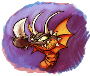 A thing that is a dragon head
