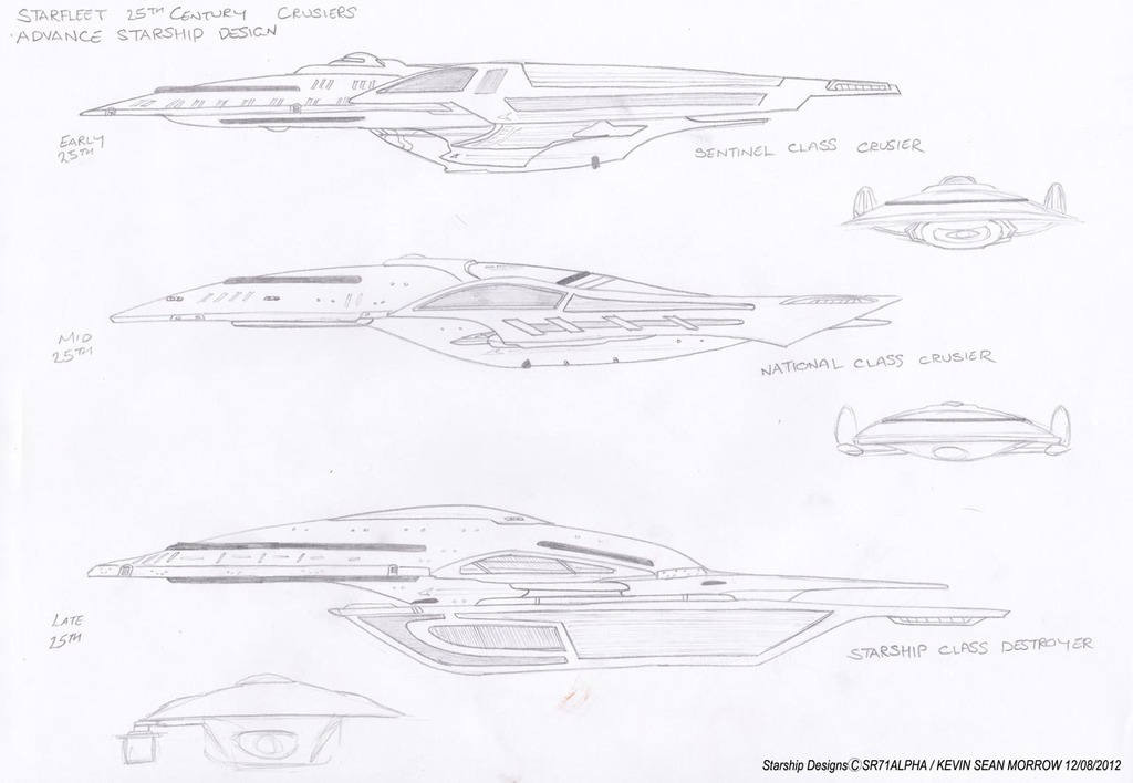 Advance Starship Designs - 25th Century Era