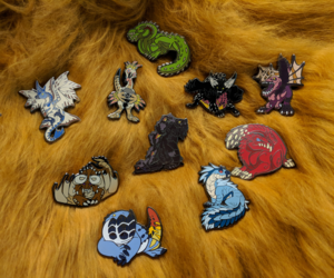 Mini Monster Pins- Now Available!