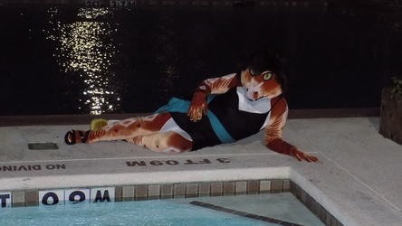 Kate Lounging By The Pool