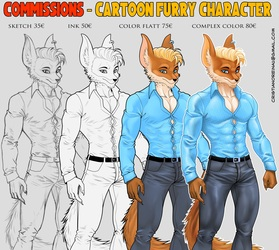 Commission chartoon furry characters