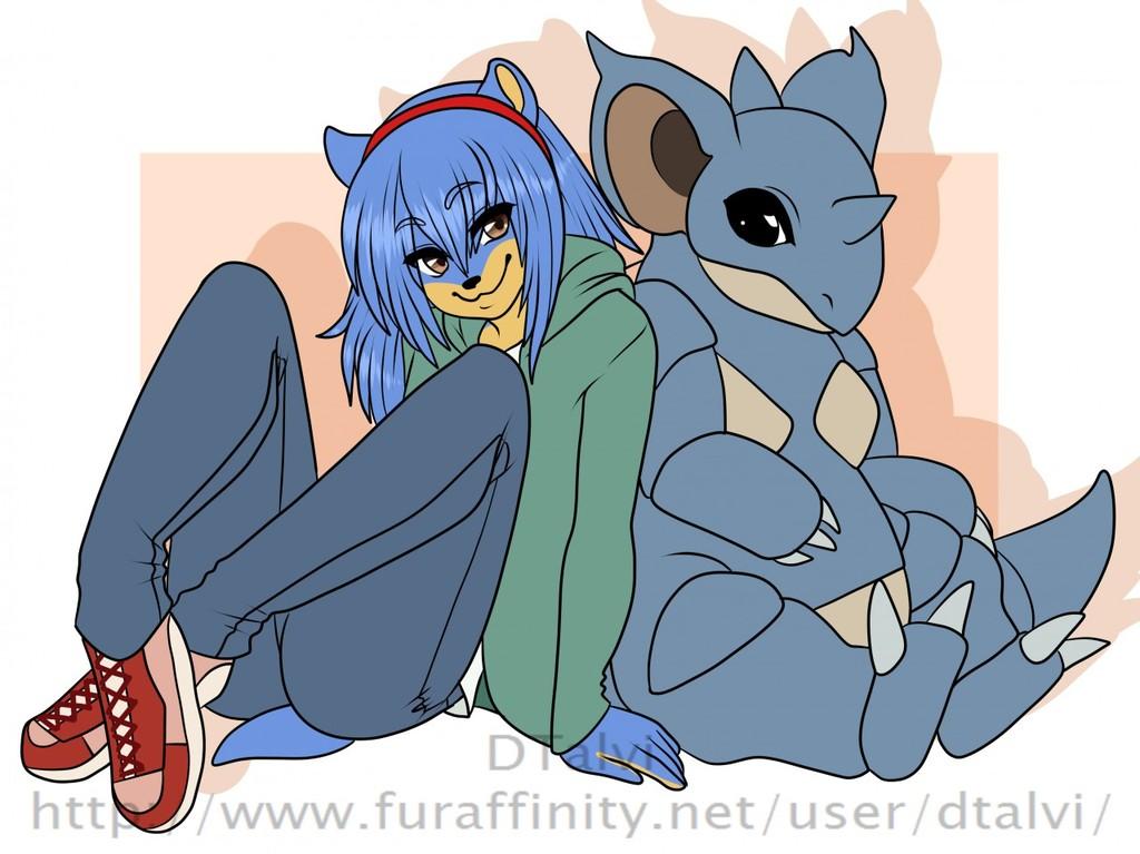 Midnight Hedgehog and Nidoqueen