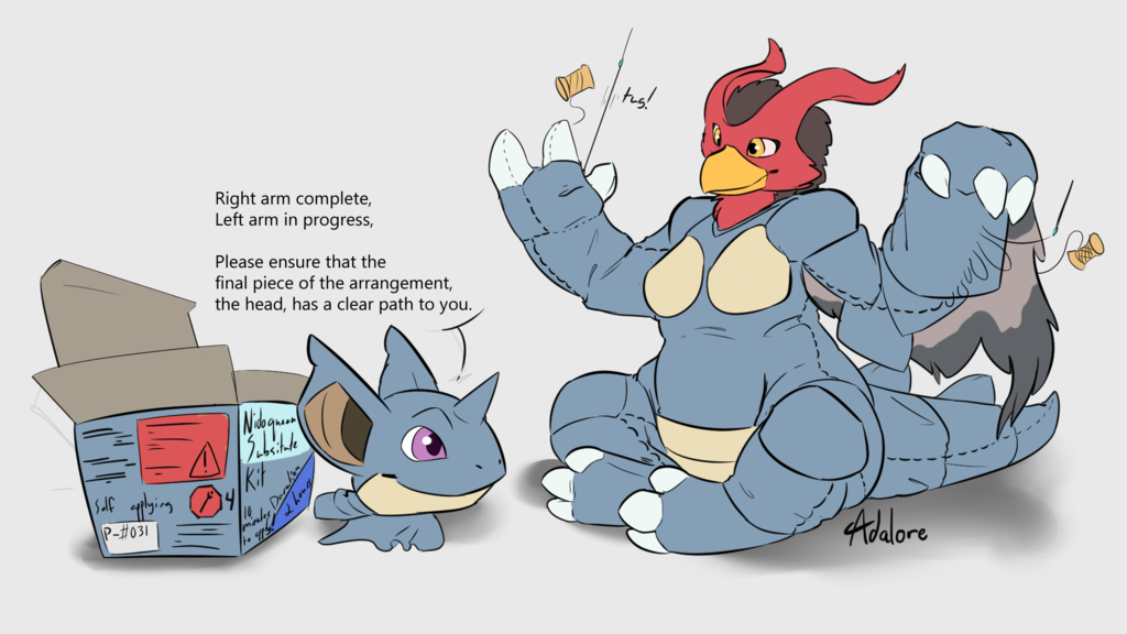 Stream Commission - Nidoqueen Plushification